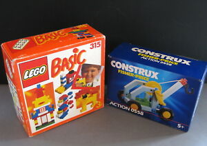 Lego Basic 315 + Fisher Price construx 0558  vintage with box
