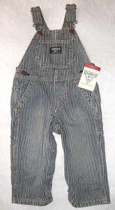 Oshkosh Latzhose Blau-weiß Gestreift Gr 62-86 Neu Jeans Streifen Overall Verbraucher Zuerst