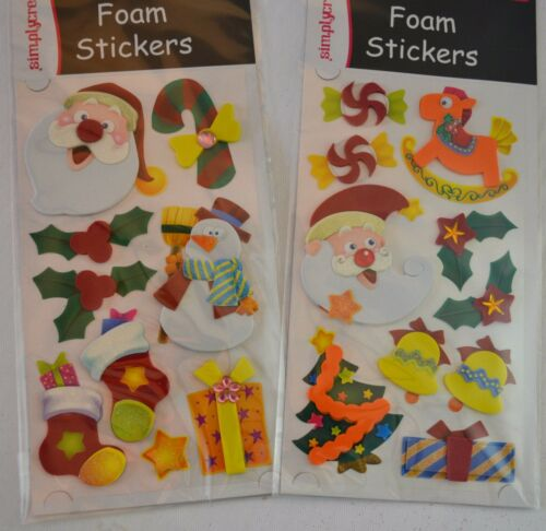 CLEARANCE 4 packs CHRISTMAS stickers holly santa present card making crafts