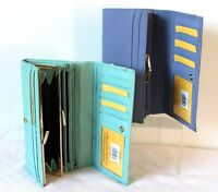 Soft Leather Clip Frame Fold Over Wallet Purse By London Leathergoods 8 Colours