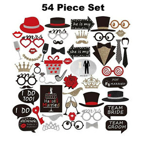 Photobooth Props 54 Pieces Wedding Photo Booth Props Wedding Decorations