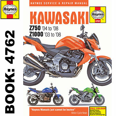 Kawasaki Z750 Z1000 2003-2008 Haynes Workshop Manual