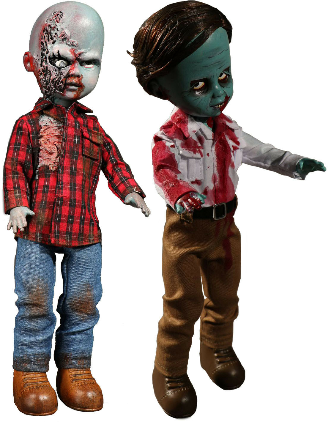 LIVING DEAD DOLLS - Dawn of the Dead 10  Action Figure Set (2) by Mezco  NEW