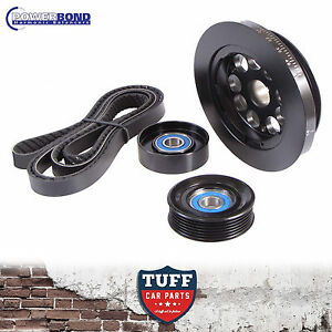 BA-BF-FG-Ford-Falcon-6-4-0lt-20-Powerbond-Underdrive-Balancer-Belt-Pulley-Kit