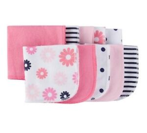 01ea7d9c8 Gerber Baby Girl 10-Pack Coral/Pink/Navy Terry Washcloths BABY ...