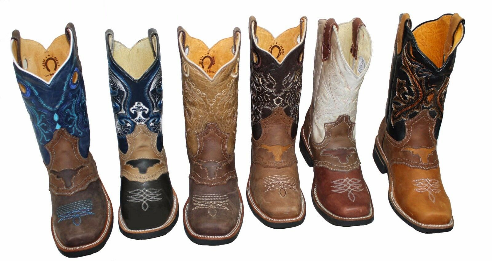 herren RODEO COWBOY GENUINE LEATHER WESTERN SQUARE TOE Stiefel-  58.99