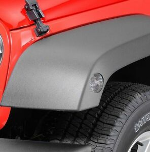 Jeep-Wrangler-JK-07-18-Vorne-Marker-Klarglas-Set-mit-Gelbe-Gluehbirnen