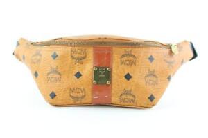 651214baf679 MCM Cognac Visetos Fanny Pack Belt Waist Pouch Brown Cross Body Bag ...
