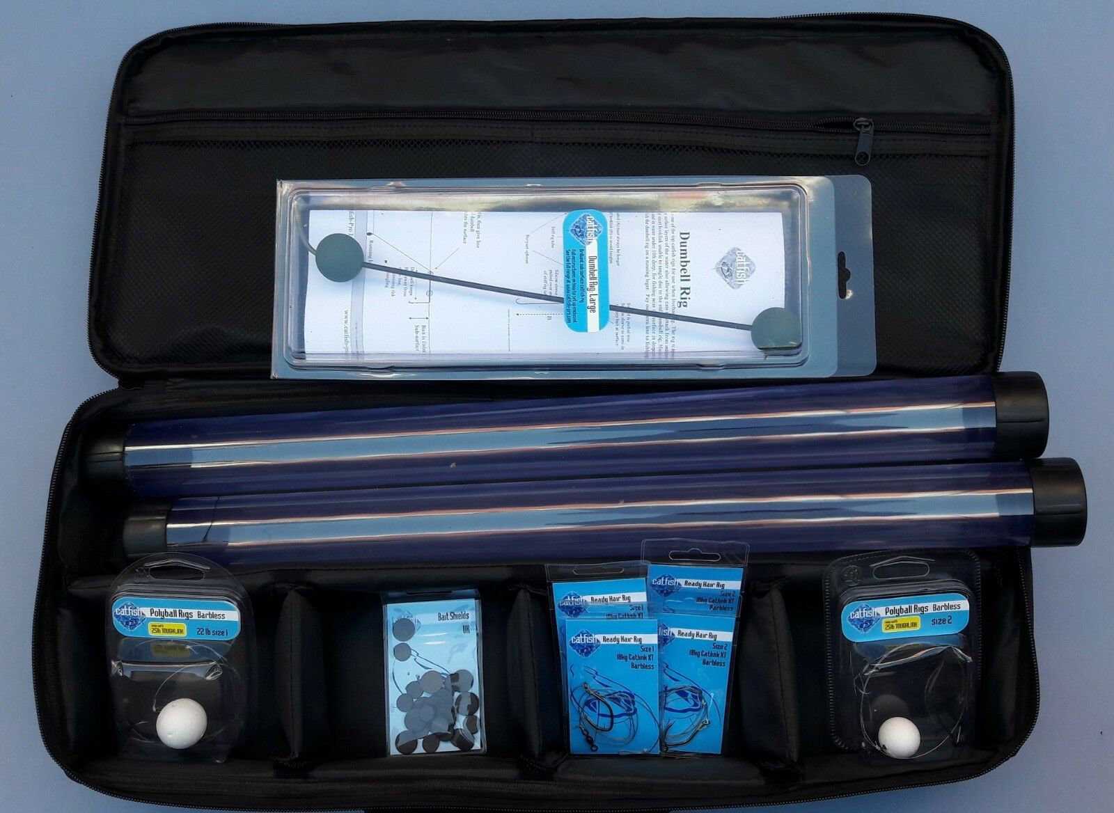 Bolsa de aparejos bagre Pro cargado Starter Kit nuevo bagre Bolsa de aparejos de pesca