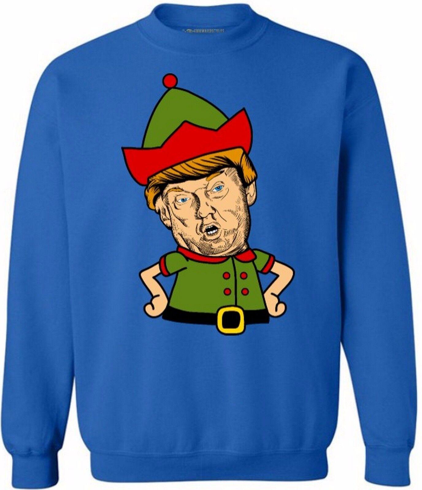 Men/'s Trump Make Christmas Great White Raglan Hoodie Ugly Sweater Holiday B1176