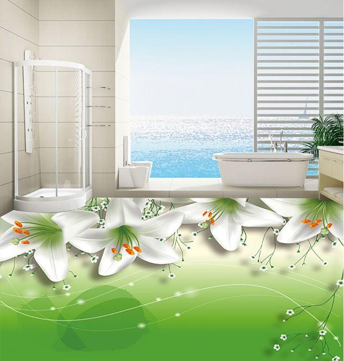 3D Grazioso Giglio 367 Pavimento Foto Wallpaper Murales Muro Stampa Decalcomania