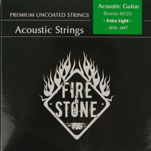 Fire/&Stone Akustik Western Gitarre 80//20 Bronze Saiten SATZ in 4 Stärken