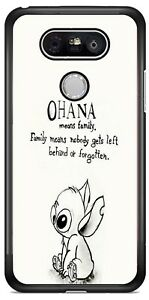 e0ca5301b9e Disney Cartoon Ohana Lilo and Stitch Phone Case Cover For iPhone ...