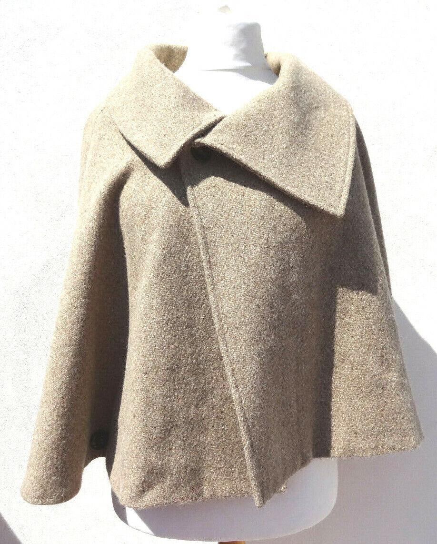 5f19eddfb6 Peter 100% Wool Cream Beige Cape Bolero one Größe 14 16 Poncho James  fyjbib1720-Mäntel & Westen