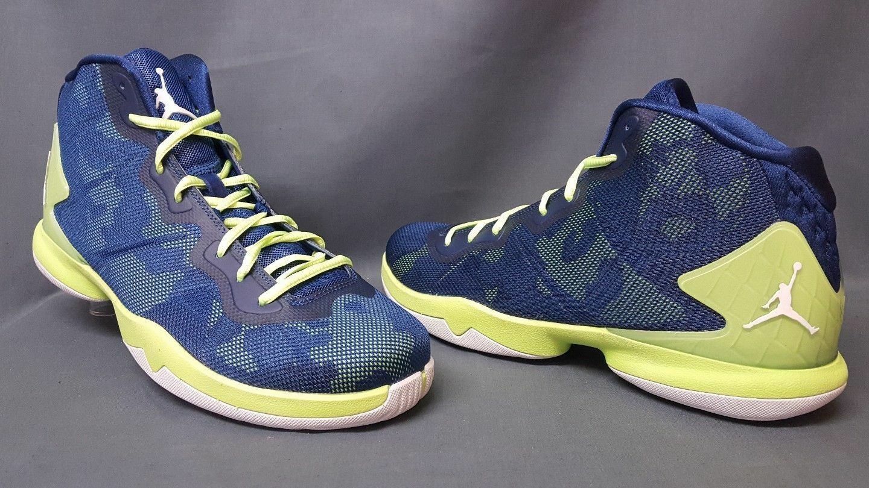 Nike Jordan SuperFly 4 Basketball schuhe Blau Camo Infrarot 768929-405 Größe 13