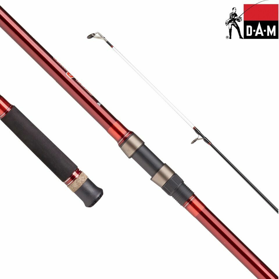 DAM SPR Red G2 Surf Fishing Rod  3.90m, 100-250g, 3-tlg,