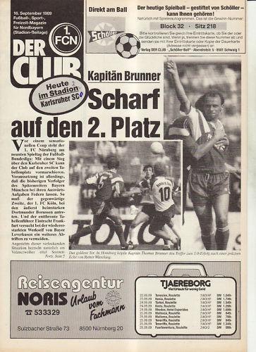 Karlsruher SC FC Nürnberg BL 89/90 1
