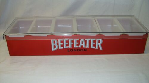 6 COMPARTMENT METAL CONDIMENT CADDY TRAY *NEW* BEEFEATER ENGLISH GIN