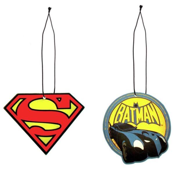 Batman Vs Superman Car Air Fresheners Double Pack DC Comics Dawn Of Justice NEW