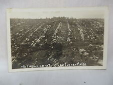 VINTAGE REAL PHOTO POSTCARD OLD INDIAN CEMETERY NEAR TURNER FALLS IN OKLAHOMA