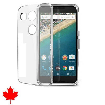 """LG Nexus 5X Crystal Clear Soft Transparent Silicone TPU Case Cover 5.2"""""""