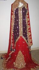 Ladies NEW bridal skirt lehanga sharara gown dress with Swarovski crystals Small
