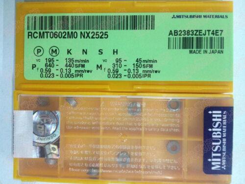 10pcs//box MITSUBISHI RCMT0602MO NX2525 RCMT0602M0 Carbide Inserts Free Shipping