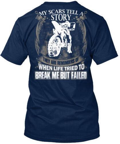 Etats-Unis Motocross-Mes Cicatrices raconter une histoire-Mon ils sont Standard Unisexe T-Shirt