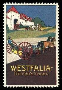 Germany Poster Stamp - Advertising - Westfalia Manure Spreader