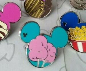 Cotton-Candy-2015-Hidden-Mickey-Food-Series-Set-DLR-Mouse-Icon-Disney-Pin