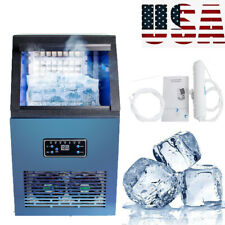 50kgday Auto Commercial Ice Cube Maker Machine Stainless Steel Bar 230w Us Easy