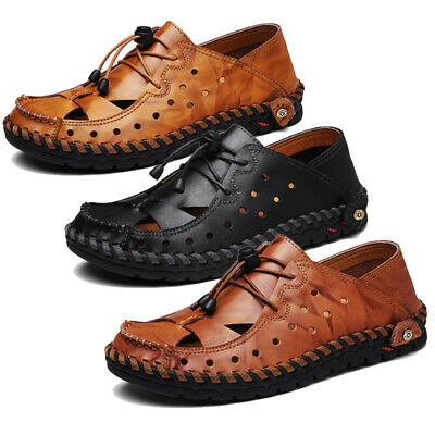 Hand Stitching Leather Sandals