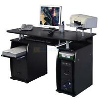 Computer Pc Desk Work Station Office Home Raised Monitor&printer Shelf Furniture
