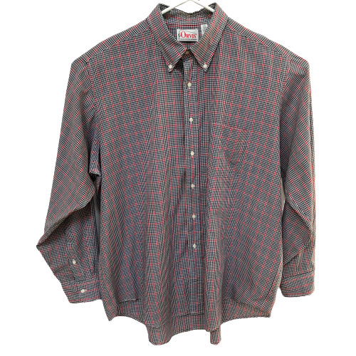 Orvis Mens XXL 2XL Vintage Checker Long Sleeve But