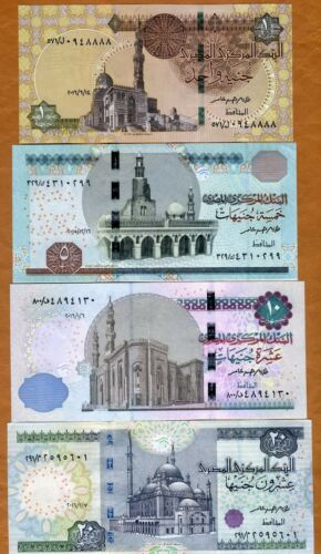 SET Egypt, 1;5;10;20 Pounds, 2014-2017, P-New, UNC > New Security Features