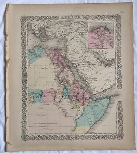 AFRICA North Eastern Sheet, No 34, Antique Atlas Map 1855 Colton World Maps +