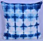 Blue Ink Stripe Pillow Cushion Cover - pattern,modern decor,tie dye,indigo,40cm