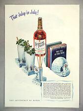 Kentucky Tavern Whiskey PRINT AD - 1946 ~~ Kentucky Mint Julep Drink recipe