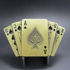 Buckle Royal Flush in Pik, mit Feuerzeug, Poker, Gürtelschnalle