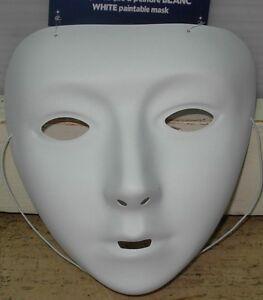 Maschera Carnevale Bianca Da Colorare Ebay