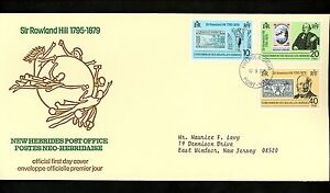 Postal History New Hebrides / France Scott #265-267 FDC UPU Rowland Hill 1979