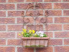 Antico Vintage Garden FIORIERA MURO FERRO BATTUTO CESTINO & Terracotta Vaso di fiori