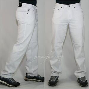Georgio-Peviani-Jean-homme-Basic-Denim-Pantalon-Coupe-Droite-Urban-Hip-Hop-Blanc