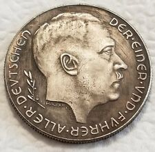 Adolf Hitler Third Reich Nazi coin 1938 Exonumia Coins WW2 WWII German Germany