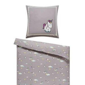 Einhorn Kinder-Bettwäsche 2-tlg. 135x200cm
