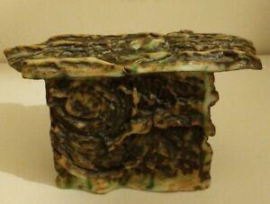 Unique-Handmade-Studio-Pottery-Ikebana-Vase-Brutalist-Naturistic-Style