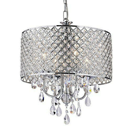 ELEGANT 5 LIGHT CRYSTAL CHANDELIER PENDANT LIGHTING FIXTURE LIGHT LAMP