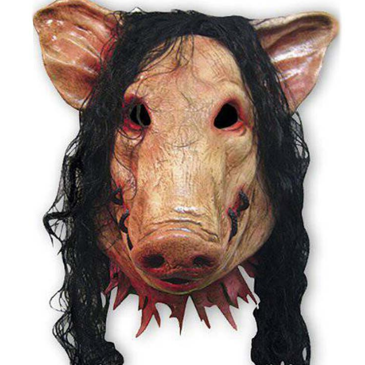 Halloween SAW PIG Mask Full Head Scary Mask Costume Cosplay Props Party Adult
