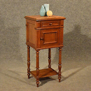Antique Small Cabinet Side Table Bedside Cupboard Quality French Oak