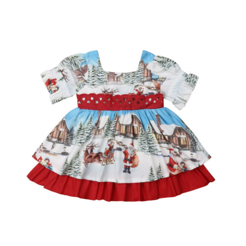 US Toddler Kid Baby Girl Clothes Princess Party Prom Bowknot Tutu Summer Dress
